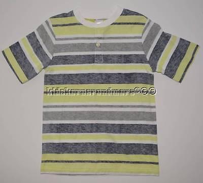 Gymboree Desert Explorer 2T Button Tee Shirt Gray Yellow Striped New