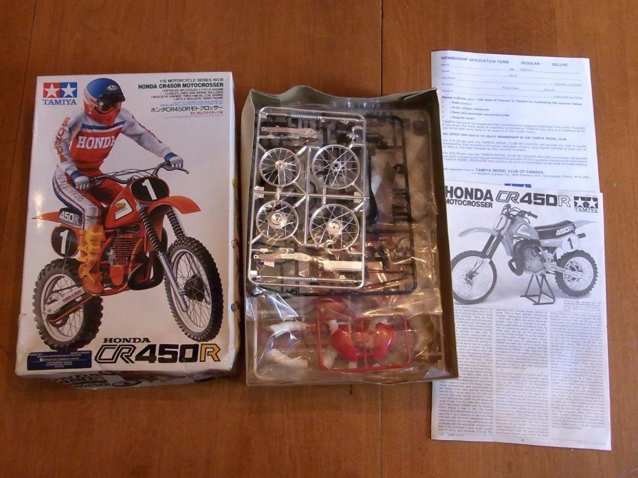 tamiya HONDA CR450R motocrosser 1/12th model kit