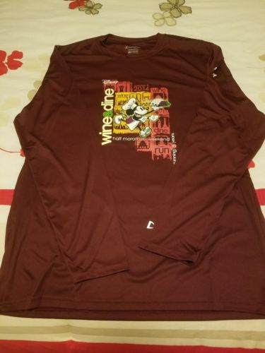 Run Disney Wine & Dine 2014 Race Tech Shirt Mens L