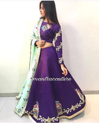 Bollywood Fancy Embroidery Work Lehenga Choli Pakistani Wedding Party Wear BIR