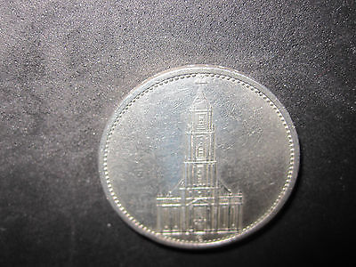 1934E And 1934A Germany Third Reich 5 Reichsmark-5 Mark Silver Coins--High Grade