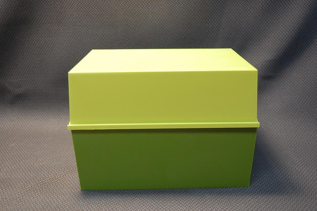 Vintage Betty Crocker 1971 Receipe Card Library Box Lime Green with Index