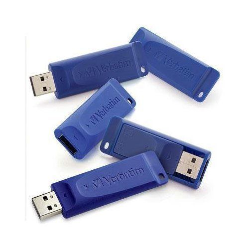 VERBATIM 99121 8GB USB Flash Drive 5 Pk Blue