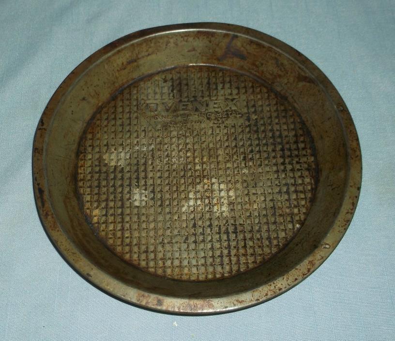 Vintage Ovenex Waffle Textured Pie Plate Pan 9
