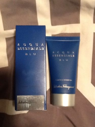 New Salvatore Ferragamo Acqua Blu  Shamp/Shower Gel 2 Travel Size 1.7oz