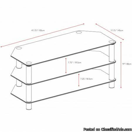 TV Stand- Glass