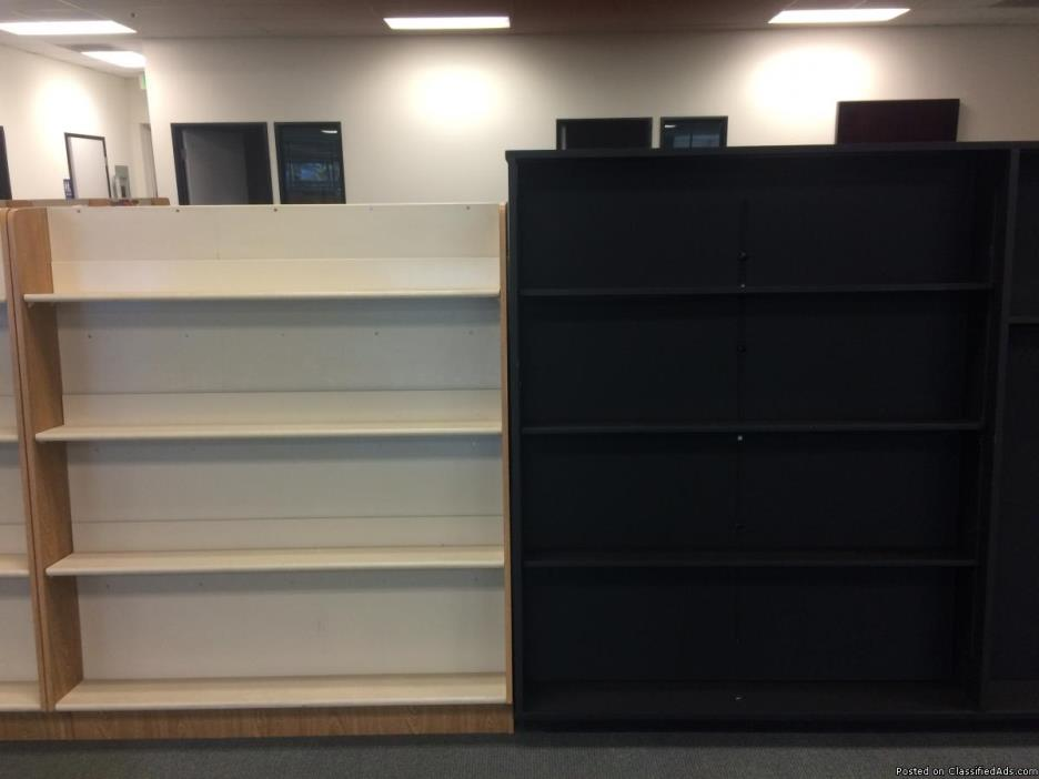 Bookcases: No charge but must pickup by July 4