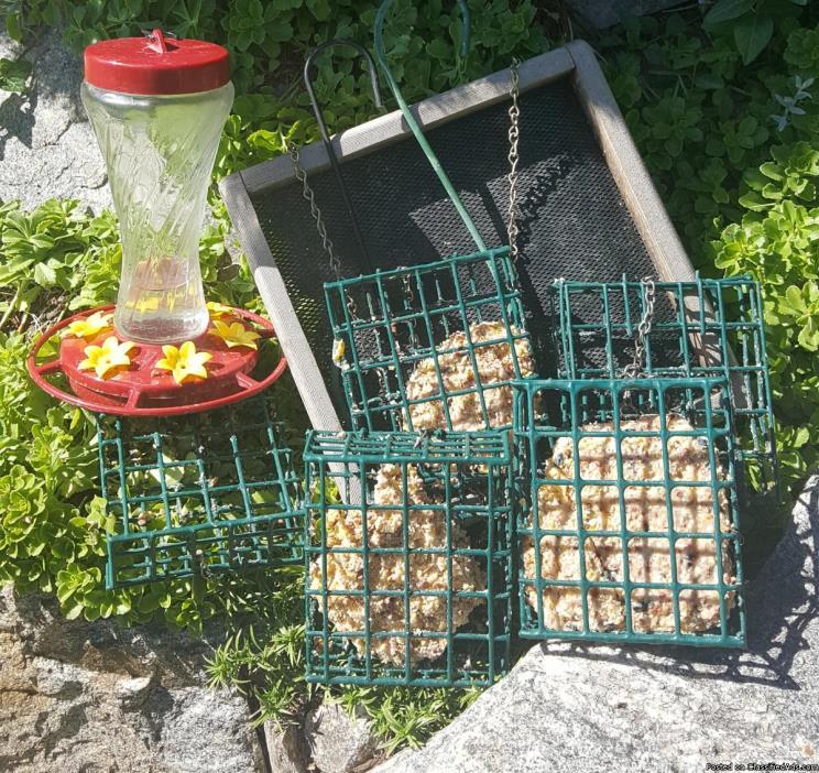 Wild Bird Feeders(9) & Bird Food, too!