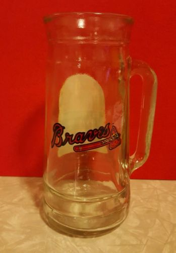 Vintage Atlanta Braves Mug O Nuts Glass Stein Mug RARE