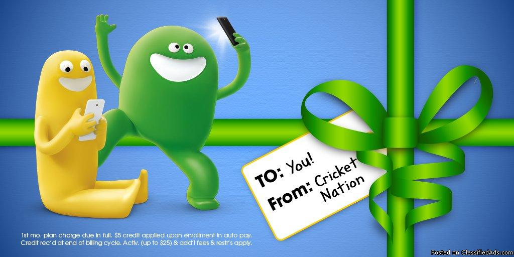 UP TO 5 FREE PHONES WHEN YOU SWITCH TO CRICKET WIRELESS
