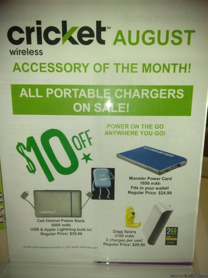 CRICKET WIRELESS ACCESSORY OF THE MONTH