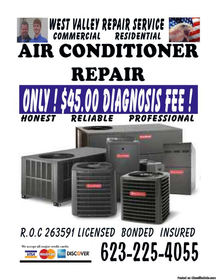 ^^ Air Conditioning EXPERTS affordable diagnosis $45^^ roc licensed & bonded