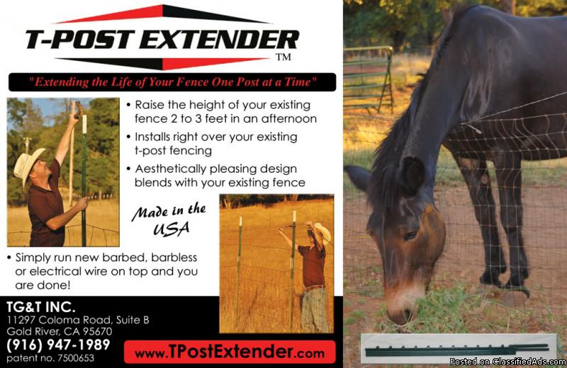 Dog,Deer Proof Your Yard or Garden with the T-Post Extender