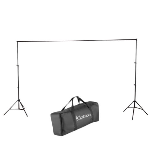 Kshioe 2*3M/6.5*10ft Support Stand Set Photo Backdrop Crossbar Kit Black
