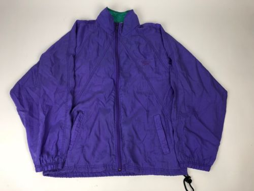 VTG Womens 80s Reebok M Windbreaker Jacket Purple