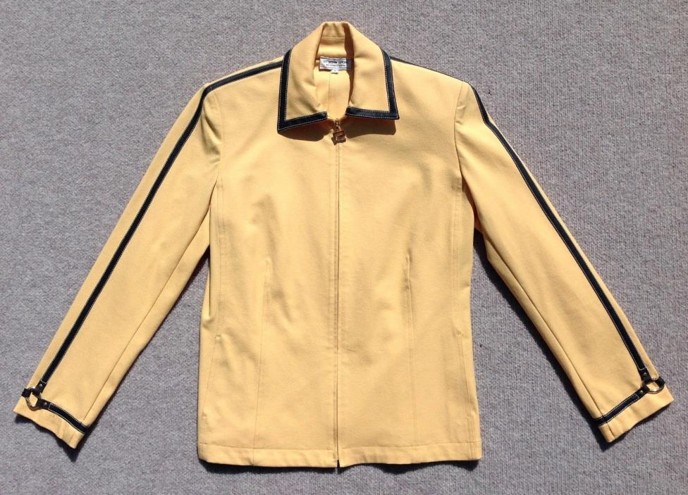 Vintage Saint John Yellow Zipper Jacket Size Small