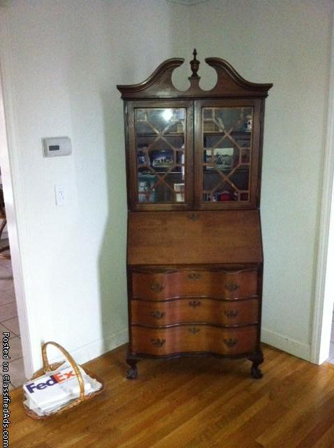 Antique Mahagney Secretary from 30's or 40's