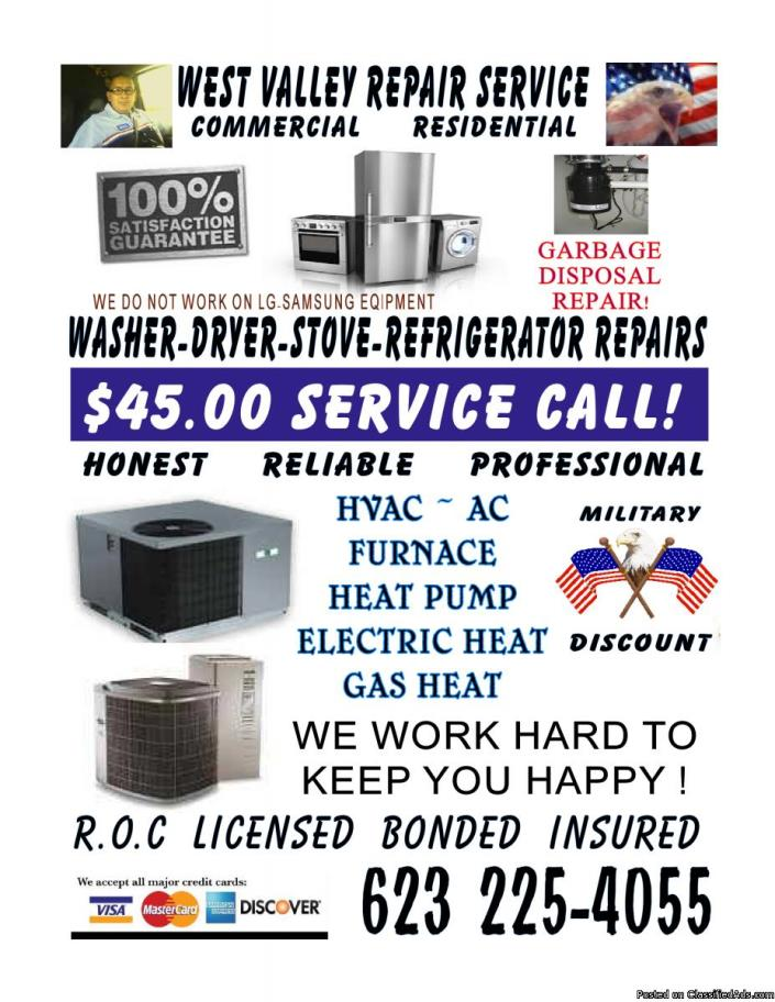*HEATING* SERVICE *HVAC- AC* Call US 6 days a week.
