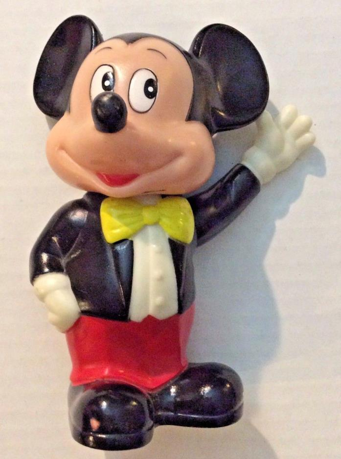 Suited Tux MICKEY MOUSE Still COIN BANK Bust Official Disney Figure Plastic 6