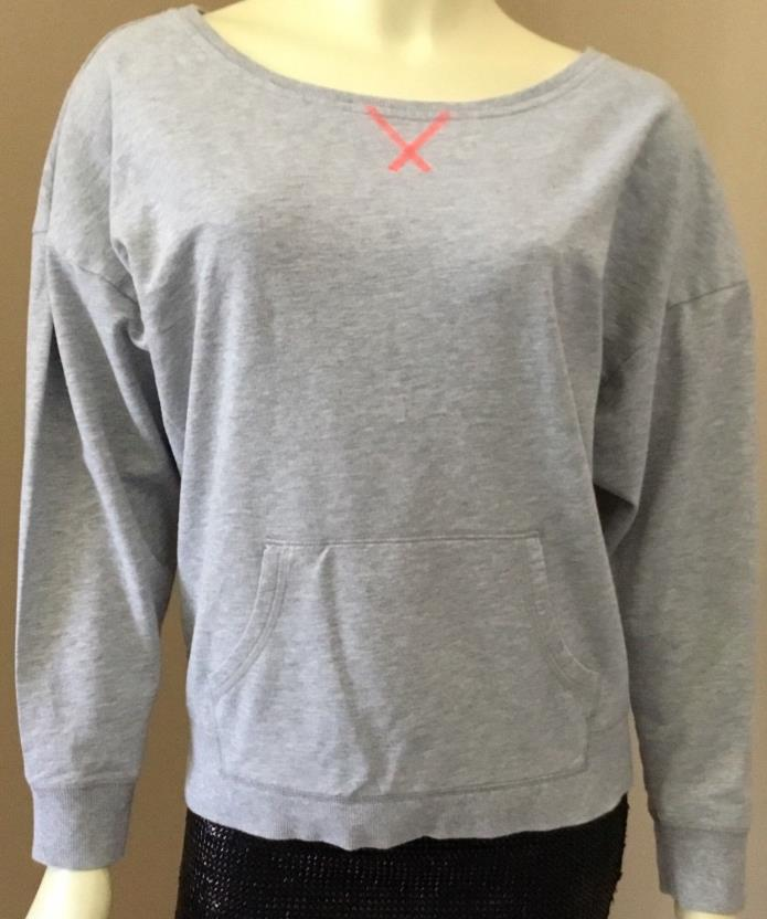 Womens Champion Gray Light Pullover Top Running Cycling Yoga Fitness M