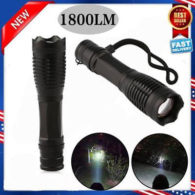 US XML T6 LED Zoomable 1800 Lumen 18650 Flashlight Focus Torch Zoom Lamp Light