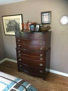 Antique Solid Mahogany Bedroom Set (New Hope)