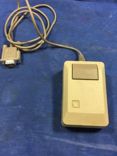 Vintage Apple Macintosh Plus One-Button Mouse M0100 ~