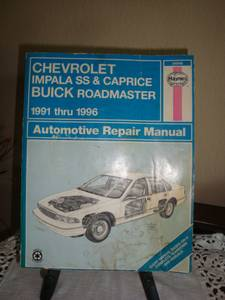 Chevrolet Automotive Repair Manual for 1991 thru 1996^^^ (Royse City Area)