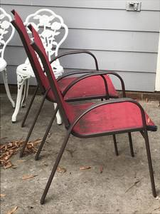 2 Red Patio Chairs (Cary)