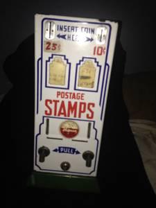 Vintage 1950s Shipmans Deluxe Duplex Porcelain Postage Stamp Machine (Columbus)