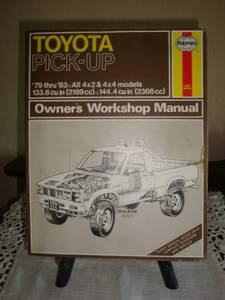 Toyota Pick-up Owners Manual 1979-85 (Royse City Area)