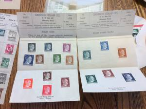 Father's stamp collection (Roscoe,Il)