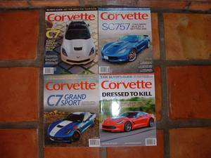CORVETTE MAGAZINE, 2 YEARS, 2016,2017 (Shea Blvd/124th St, Scottsdale)