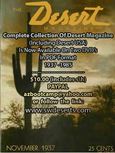 DESERT MAGAZINE all issues on DVD (whittier)