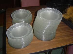 Salad Plates 6in glass plates Restaurant Quality (Saginaw)