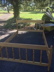 Amish made double bed (Hatfield)