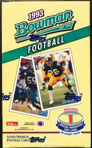 1993 BOWMAN FOOTBALL TRADING CARDS SEALED BOX (East)