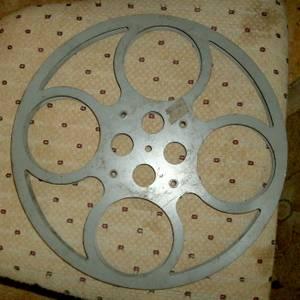16mm FILM REELS - Vintage, steel, 13 3/4