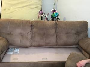 Sofa and Loveseat Without Cushions- Clean and Good Condition (Summerlin)