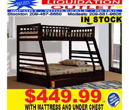 Twin/Full Bunk Bed W/Storage Mattresses Included