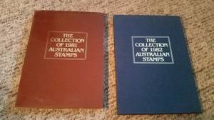 Two books of Australian stamps, and 1981 and 1982 (Lindstrom)