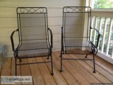 metal rocking chairs for outdoors