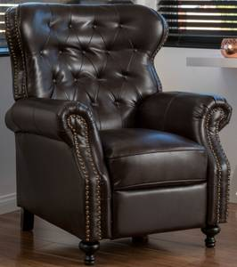BONDED LEATHER RECLINER CLUB CHAIR (Lakewood)