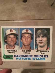 1982 Baltimore Orioles Future Stars #21 Topps trading card Bob Bonner/Cal Ripken