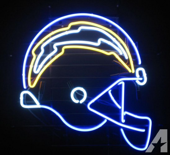 San Diego Chargers Football Helmet Neon Sign