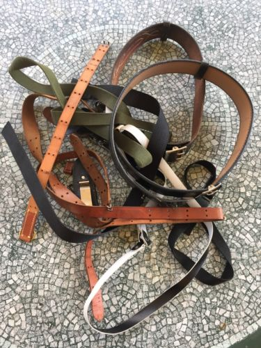 Lost Of Police Belts And Straps And Leather Straps And Belts