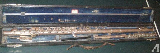 Haynes 1927 Matched Solid Silver Flute and Piccolo Set with Case