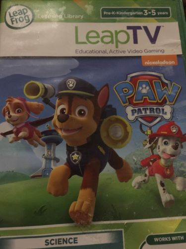 LeapFrog LeapTV Leap TV PAW Patrol Educational Active Video