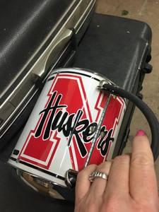 Very cool Husker purse. Metal tin (Papillion)