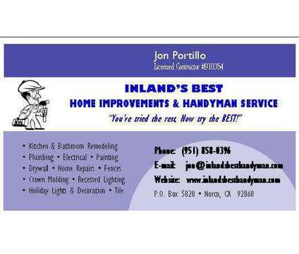 BATHROOM REMODEL SPECIALIST >> Inlandâ??s Best Home Improvements